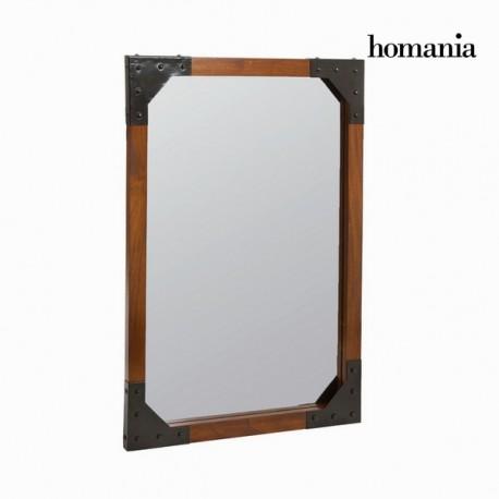 Specchio a muro legno e metallo