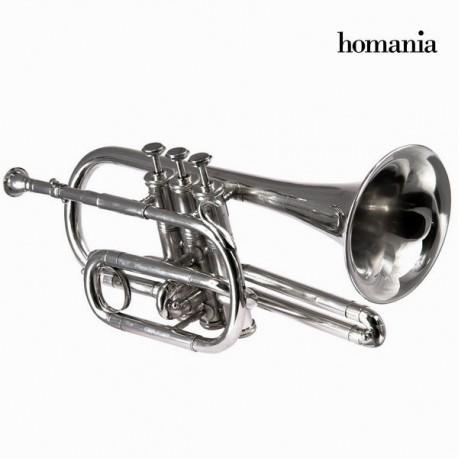 Statuetta corneta metallo