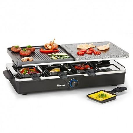 Set per Raclette Tristar RA2992 con Griglie in Metallo e Pietra