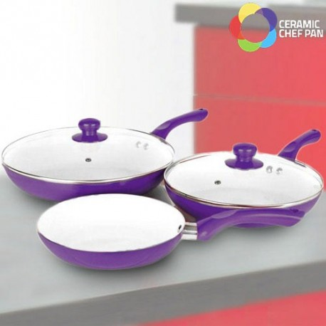 Set Padelle Ceramic Chef Pan (5 Pezzi)