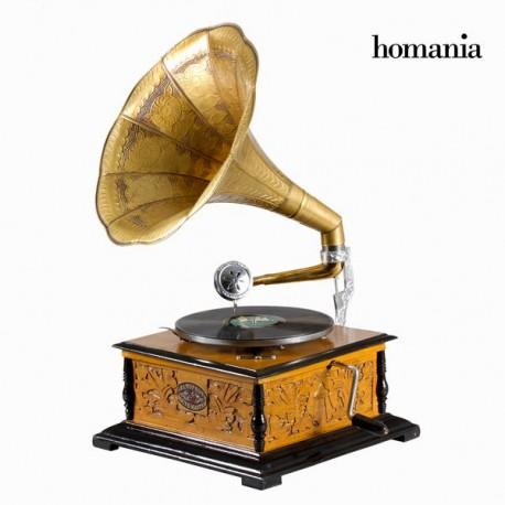 Grammofono quadrato con incisione