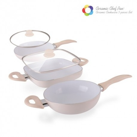 Padelle Ceramic Chef Pan Elegance Edition (5 pezzi)