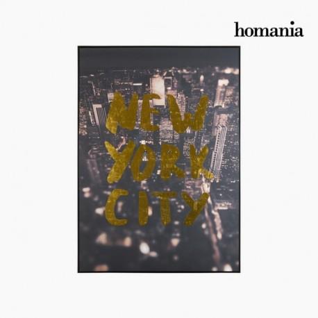 Dipinto citta di new york su tela