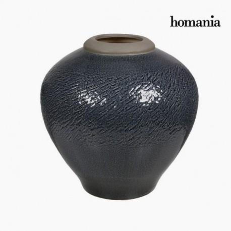 Vaso di ceramica grigio scuro