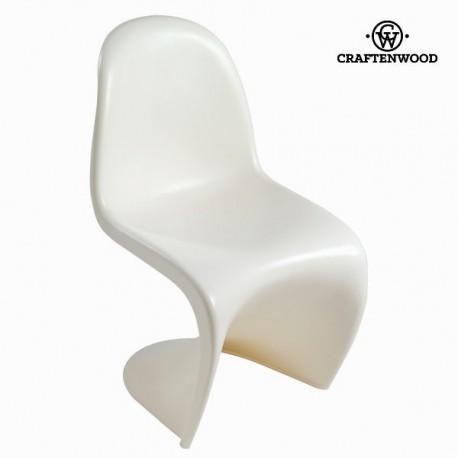 Sedia design curve bianca