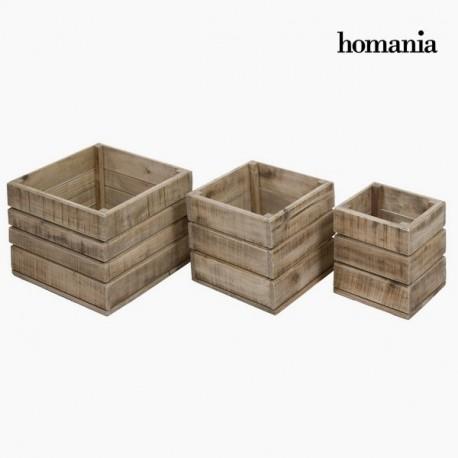 Set 3 di scatole di legno morris