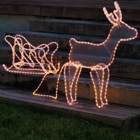 Renna di Natale con Slitta (504 LED)