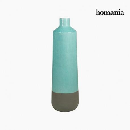 Vaso di ceramica grigio e turchese