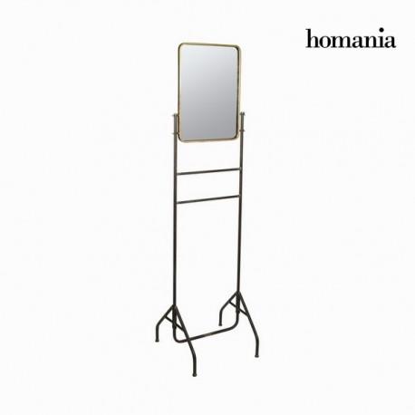 Specchio metallo con supporto oro