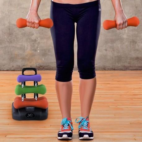 Set di Manubri con Supporto per Fitness