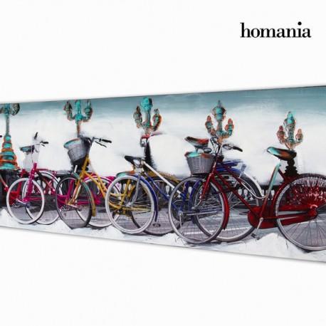 Dipinto a olio biciclette a colori