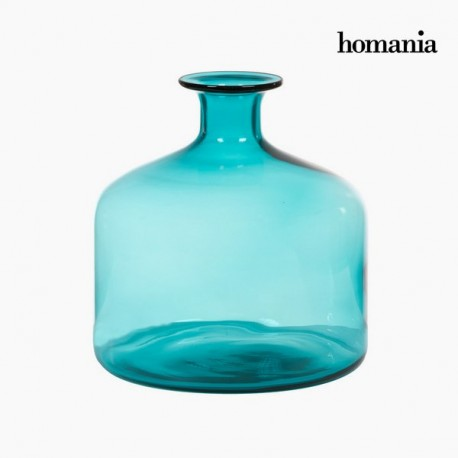 Vaso di vetro turchese