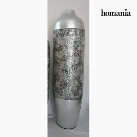 Vaso di bambu guscio d uovo e argento