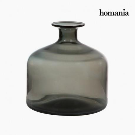 Vaso di vetro grigio