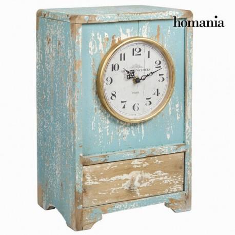 Orologio di legno blu vintage