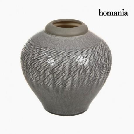 Vaso di ceramica grigio chiaro
