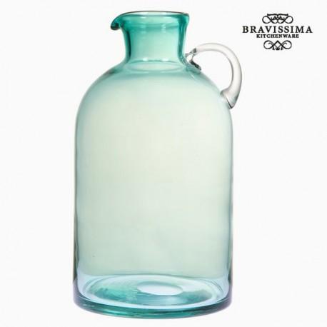 Vasetto di vetro verde con manico by Bravissima Kitchen