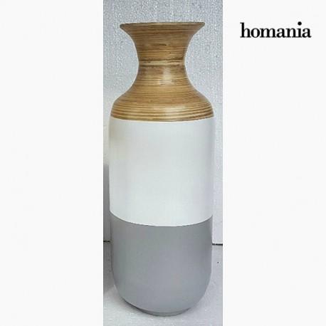 Vaso di bambu grigio e bianco