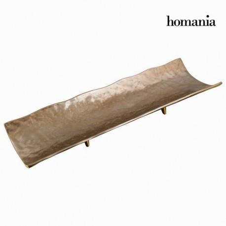 Centrotavola alluminio oro