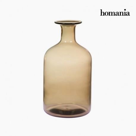 Vaso di vetro marrone