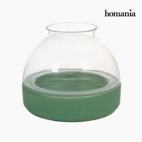 Portacandele di ceramica e vetro