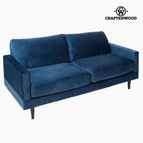 Ampio divano a 2 posti blu cos