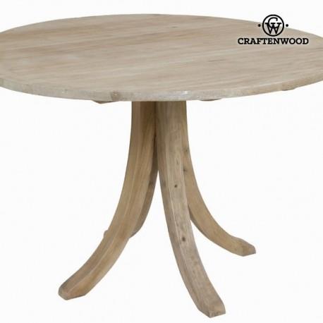 Tavolo circolare legno invecchiato