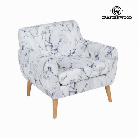 Sedia a sdraio con bracciolo marmoreo