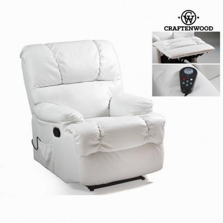 Poltrona relax con massaggio bianca