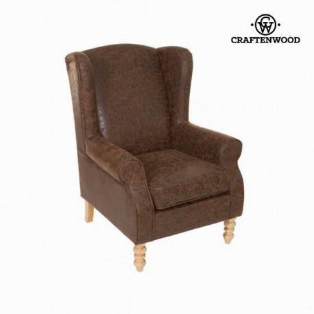 Sedia a sdraio con braccioli marrone