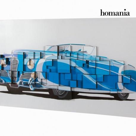 Dipinto 3d macchina blu