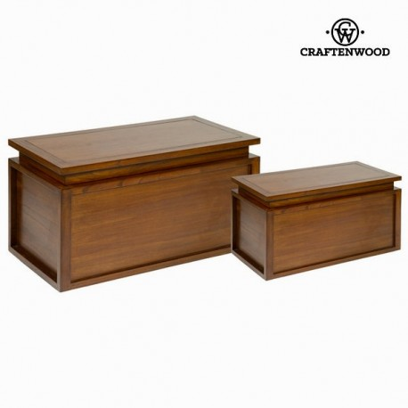 Set 2 bauli in legno