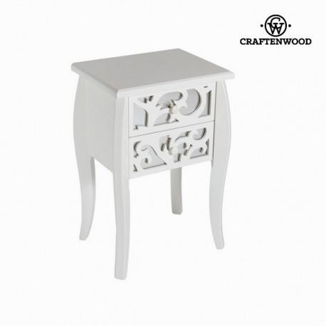 Tavolino 2 cassetti bianco