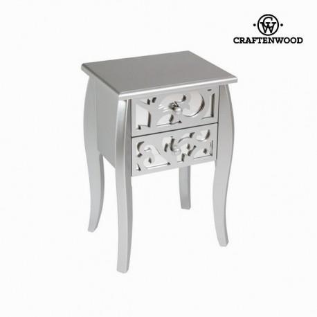 Tavolino 2 cassetti argento