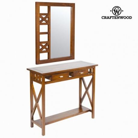 Console ingresso rustico con specchio